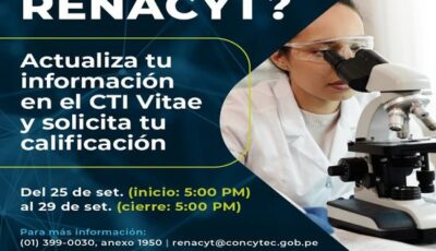 Fourth call for application to RENACYT